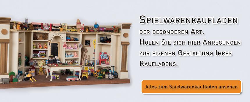 Kaufladen für Spielwaren